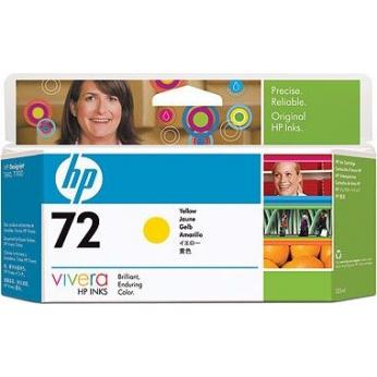 Картридж HP для DesignJet T610/T1100/T1120 HP 72 Yellow (C9373A)