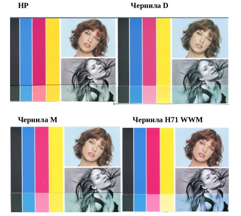 Печать разными чернилами на HP Designjet T120